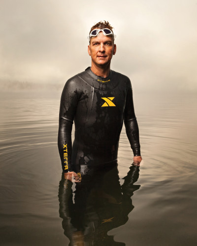 Dave Watkins, Triathlete; Founder and Captain, Ironheart Racing. Photographed for UW Medicine at Idylwood Beach Park, Redmond, WA. 9/27/12.